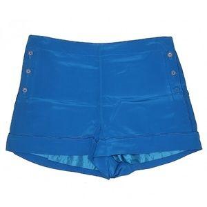 NWT Blue silk sailor dress shorts